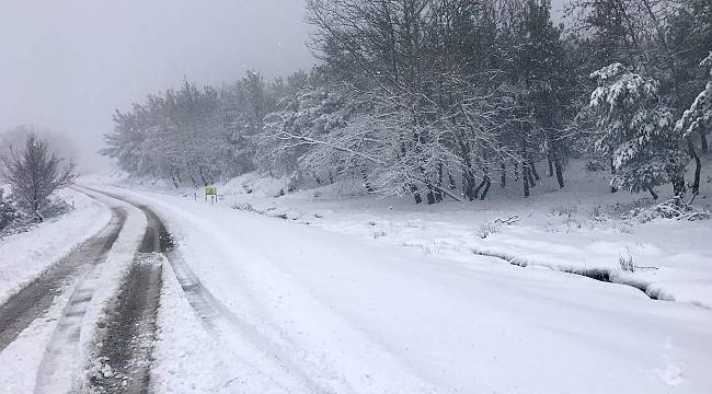 Lapseki'de Kar Yağışı