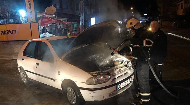 Lüleburgaz'da Otomobilde Çıkan Yangın Söndürüldü