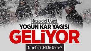 Meteoroloji'den Kritik Uyarı, Kar 20-40 cm Kalınlığa Ulaşacak!