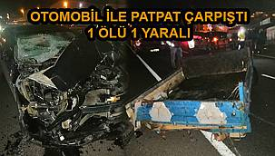 Otomobille Patpat Çarpıştı, 1 Ölü 1 Yaralı