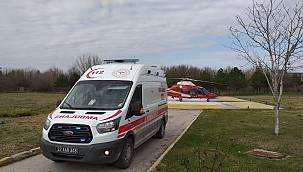Edirne'den Ambulans Helikopterle İstanbul'a Sevk Edildi