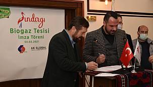 Sındırgı'da Kurulacak Biyogaz Tesisi İçin Sözleşme İmzalandı