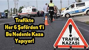 Trafikte Her 6 Şoförden 1'i Bu Nedenle Kaza Yapıyor!