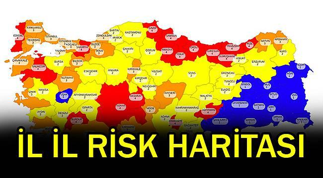 Bakan Koca Paylaştı, İl İl Risk Haritası