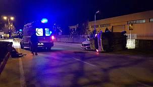Bursa'da Otomobillere Çarpıştı, 3 Yaralı