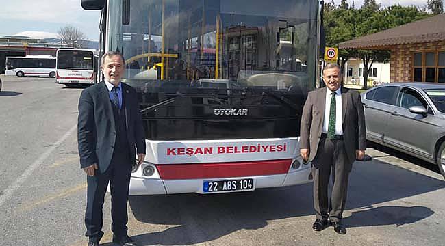 İzmir Büyükşehir Belediyesinden Keşan Belediyesine Otobüs Hibe Edildi