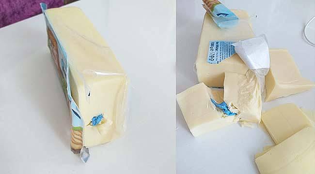 Kocaeli'de Marketten Aldığı Kaşar Peynirinden Eldiven Çıktı