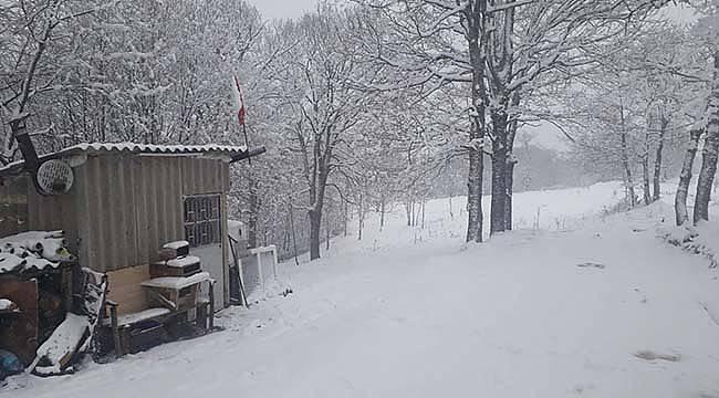 Pazaryeri İlçesinde Kar Yağışı Başladı
