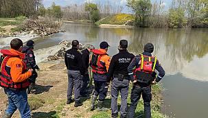 Kaybolan Yaşlı Adamın Tunca Nehri'nde Arama Çalışmaları Sürüyor