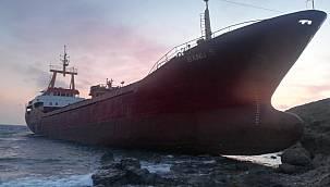 Marmaraereğlisi'nden Demir Alan Kargo Gemisi Karaya Oturdu