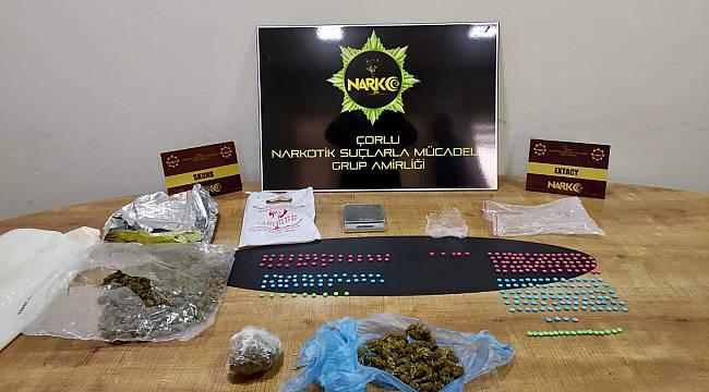 Çorlu'da Uyuşturucu Operasyonu, 3 Gözaltı