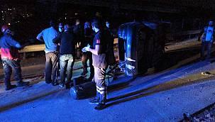 Kocaeli'de Otomobil Beton Bariyere Çarparak Takla Attı, 1 Ölü