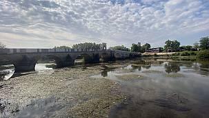 Tunca Nehri'nde Su Seviyesi 30 Santimetreye Kadar Düştü