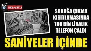 Tuvalet Camından Giren Hırsız Saniyeler İçinde 100 Bin Liralık Telefon Çaldı