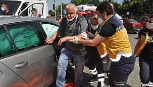 Vakaya Giden Ambulans Otomobile Çarptı