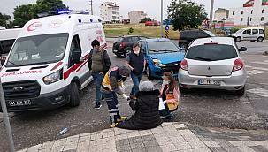 Kocaeli'de İki Otomobil Çarpıştı, 1 Yaralı