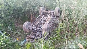 Manevra Yapan Arazi Aracı Dere Yatağına Düştü, 4 Yaralı