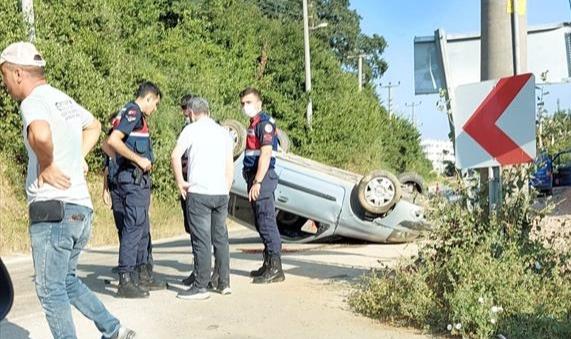 Bursa'da Takla Atan Otomobilin Sürücüsü Öldü