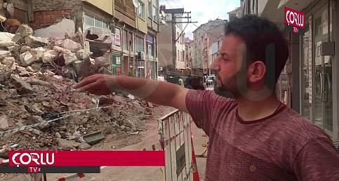 Yıkım Sırasında Zarar Gören Bina Boşaltıldı