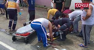 Otomobille Motosiklet Kafa Kafaya Çarpıştı 1'i Ağır 2 Yaralı