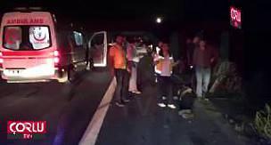 Yol Ortasındaki Lastik Dehşet Saçtı 2'si Ağır 5 Yaralı