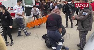 Motosikletli Kurye ile Otomobil Kafa Kafaya Çarpıştı